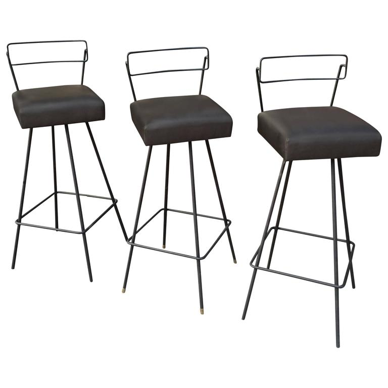 Us Antiques Mid Century Modern Wrought Iron Swivel Bar Stools In The Style Of Tony Paul Bar Stools Wrought Iron Bar Stools Iron Bar Stools Black wrought iron bar stools