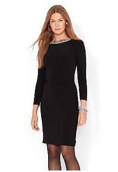 Lauren Ralph Beaded Jersey Dress