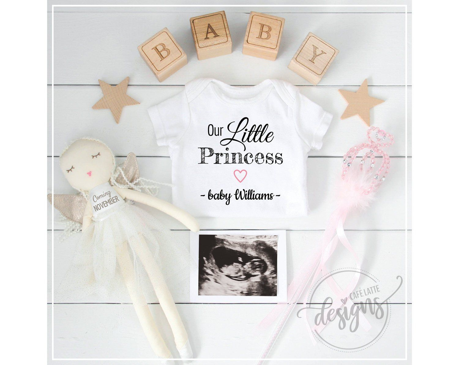 Digital Baby Personalized Social Media IT/'S A GIRL Pregnancy Announcement October November Fall Baby Girl Announcement Gender Reveal Idea