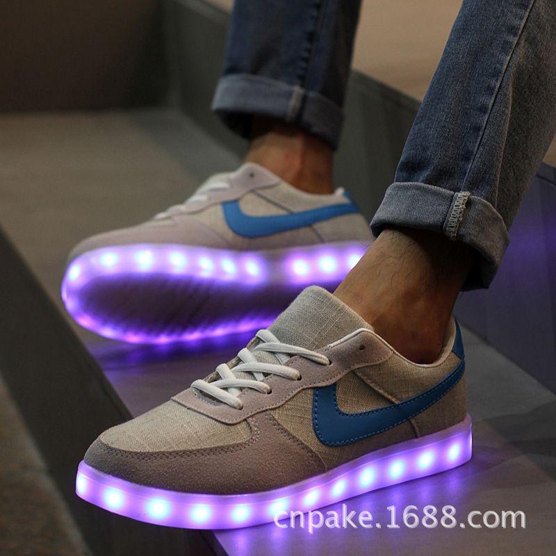 Led scarpe per adulti scarpe da donna led luminoso scarpe hot 2016 plus size
