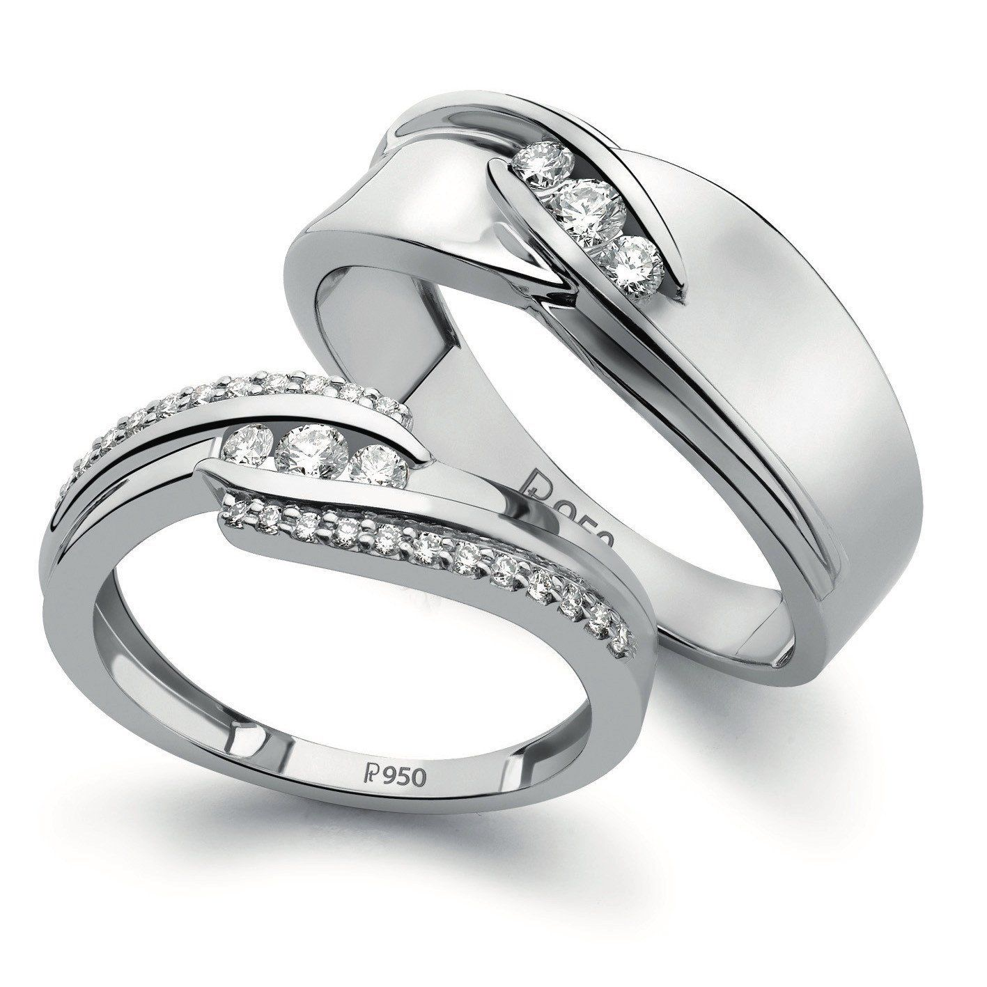 Designer Platinum Love Bands With Diamonds Sj Pto 152 Ladies Diamond Rings Couple Ring Design Rings For Men
