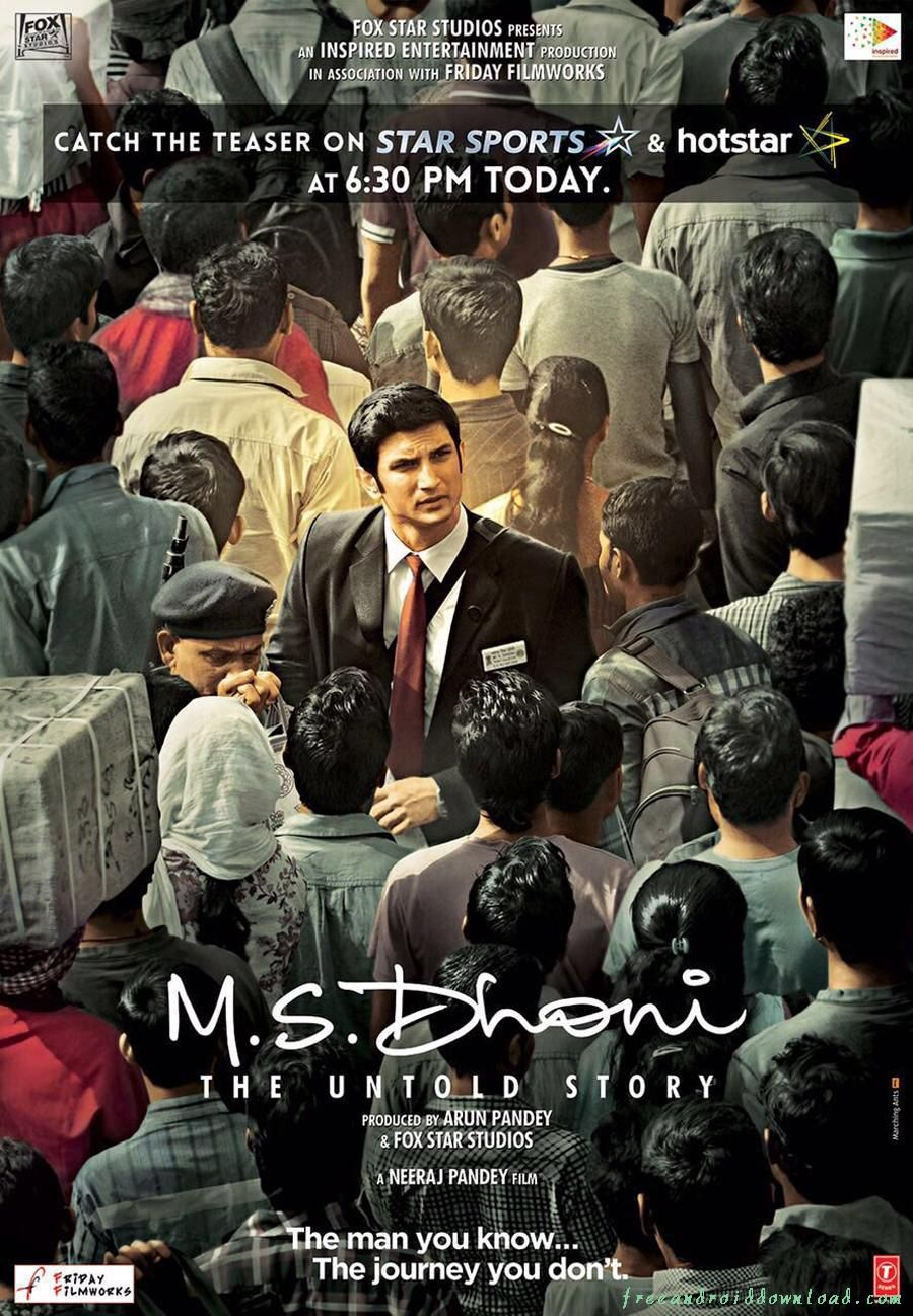 M S Dhoni The Untold Story Freeandroiddownload Com Sushant Singh Upcoming Movies Latest Hollywood Movies