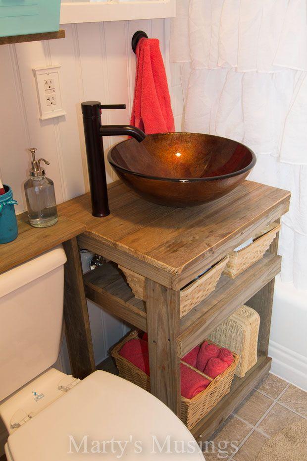 Fence Board Bathroom Cabinet Tocador, Almacenamiento y Accesos