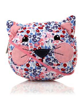 53471349c85a4 Benetton Girl`s floral cat shaped bag Pink - House of Fraser