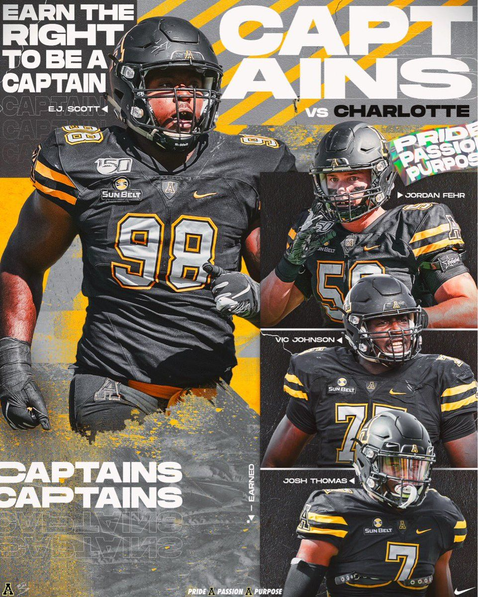 APP STATE FOOTBALL ON TWITTER THE CAPTAINS FOR TOMORROW S
