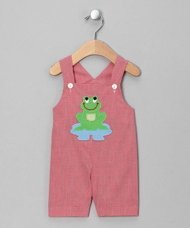 Take a look at this Red Frog Shortalls - Infant & Toddler by Monday's Child on #zulily today!