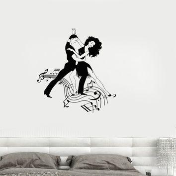 Vinyl Decal Dance Music Ballroom Tango Couple Wall Sticker Mural