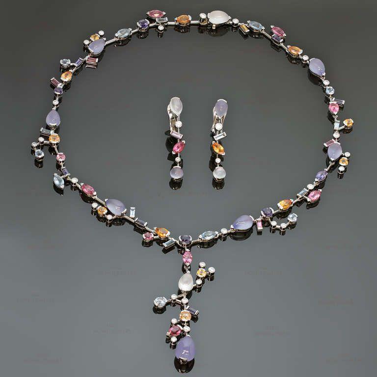 Cartier Meli Melo Diamond Multicolor Gemstone Necklace