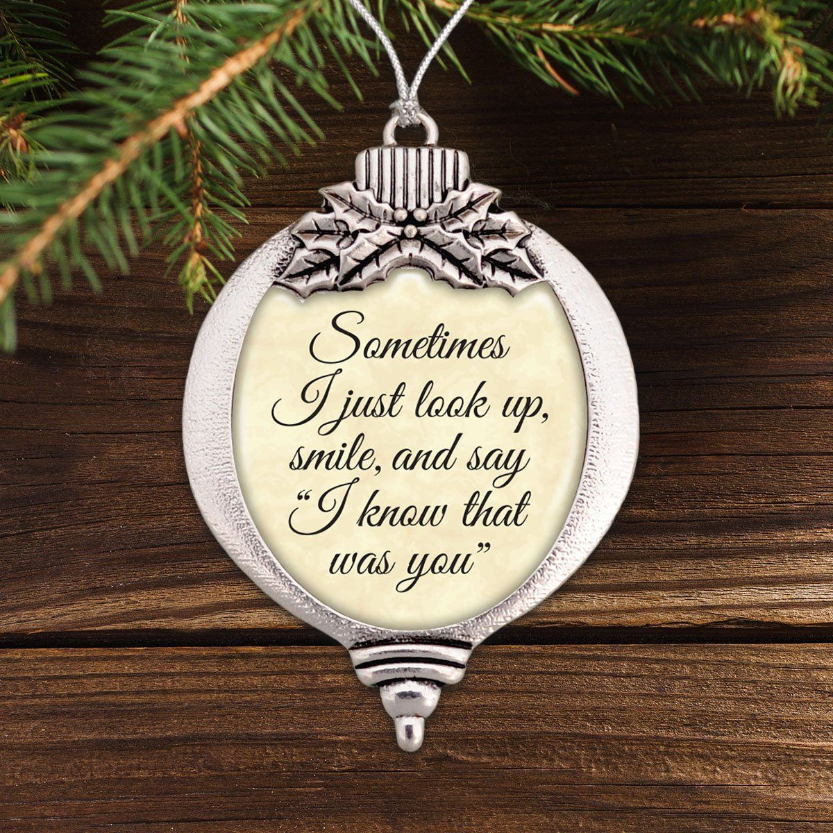 I Know That Was You Bulb Ornament