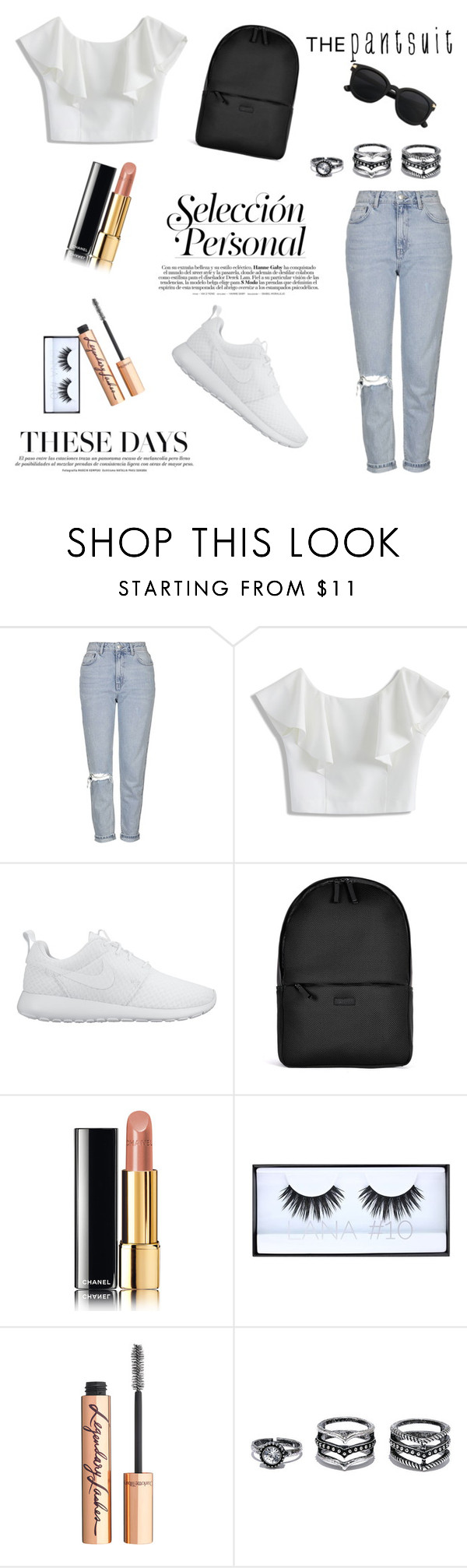 """""""Untitled #23"""" by it-is-style on Polyvore featuring Topshop, Chicwish, NIKE, Rains, Chanel and Lulu*s"""