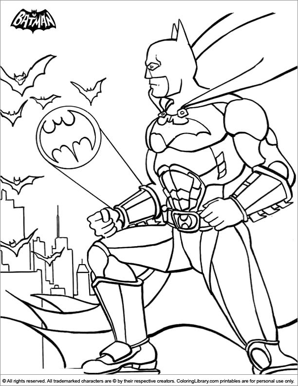 Batman Coloring Page The Bat Signal Is Calling