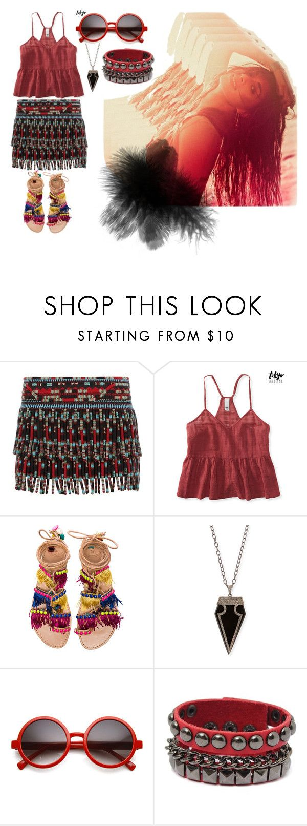"""NICE"" by anisabici on Polyvore featuring Valentino, Aéropostale, Elina Linardaki and Siena Jewelry"