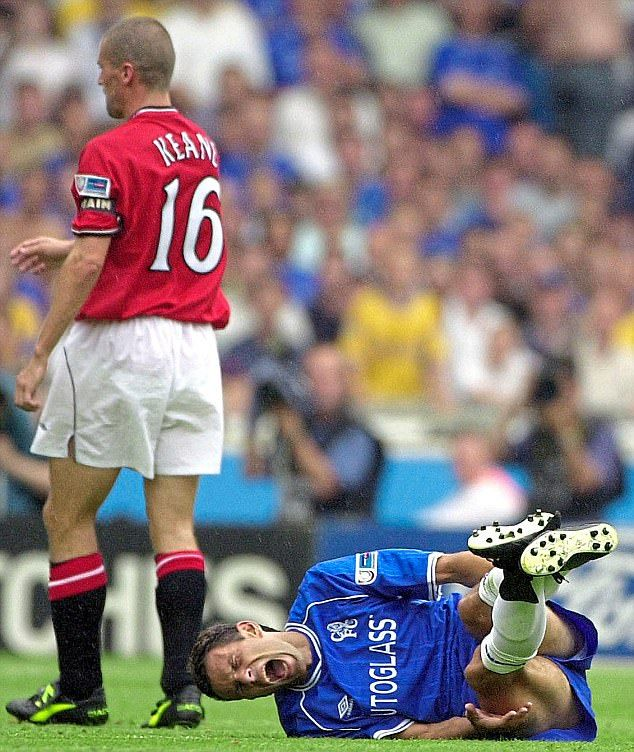 Gus Poyet Roy Keane Hitting Me On The Head Was My Welcome To England Chelsea Team Manchester United Legends Roy Keane