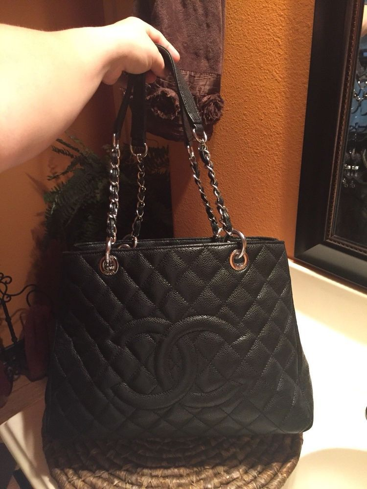Chanel Bag Silver Hardware Authentic Caviar Leather Absolutely Stunning Fashion Clothing Shoes Accessories Womensbagshandbags Ebay Chanel Bag Bags Chanel