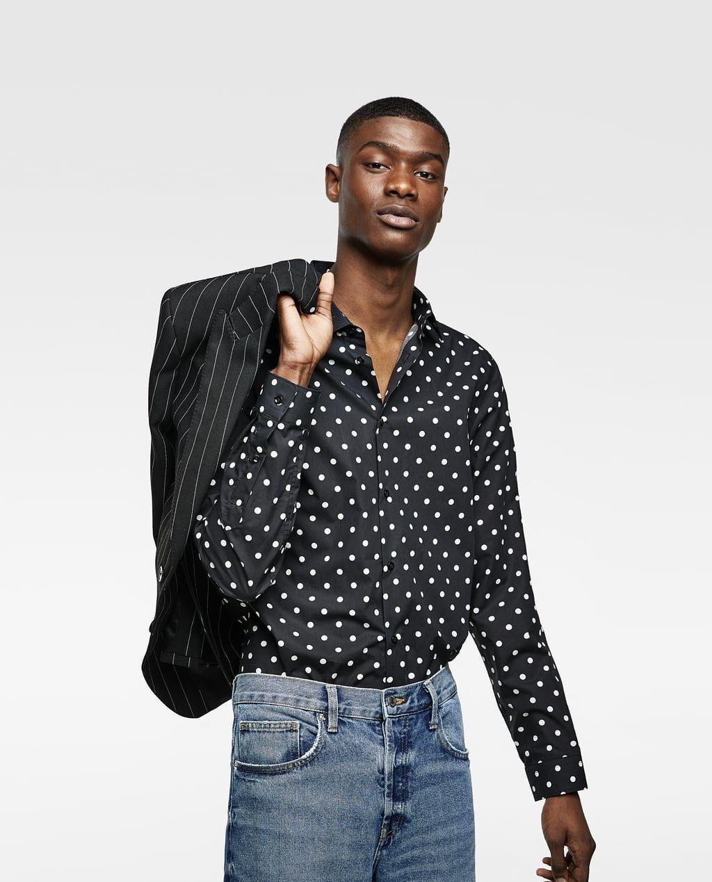 Imagen 2 De Camisa Estampada Lunares De Zara Looks