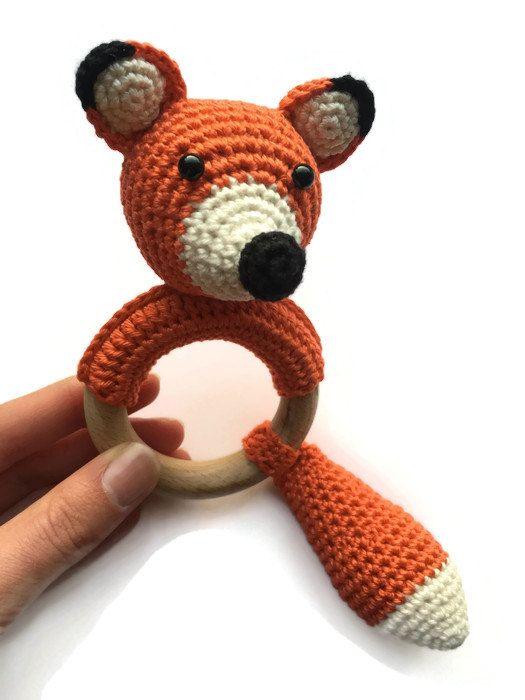 Crochet Patterns 2 In 1 Combination Fox Rattle Fox Por Knufl