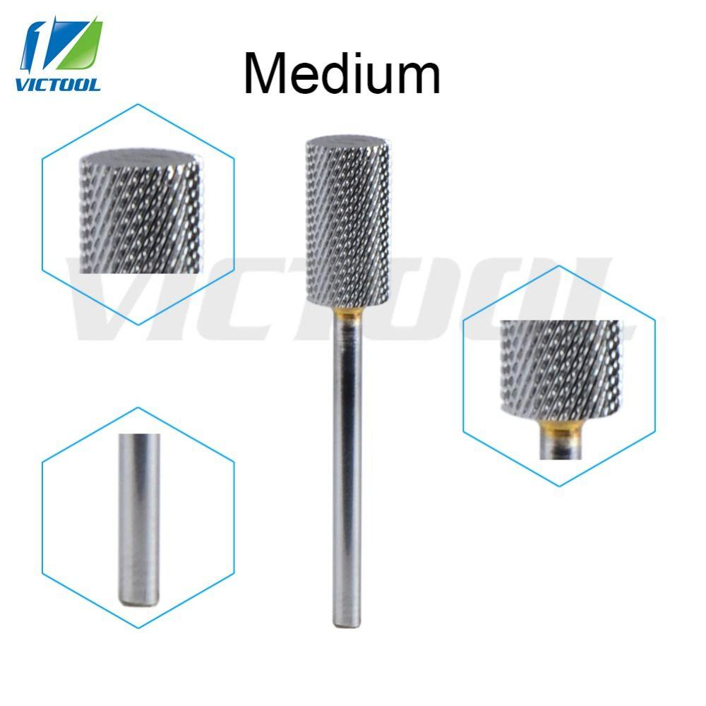 Tungsten Carbide Nail Bit Medium Teeth For Electric Manicure