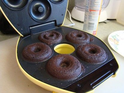 Brownies In Doughnut Machine Ready To Come Out Donut Maker
