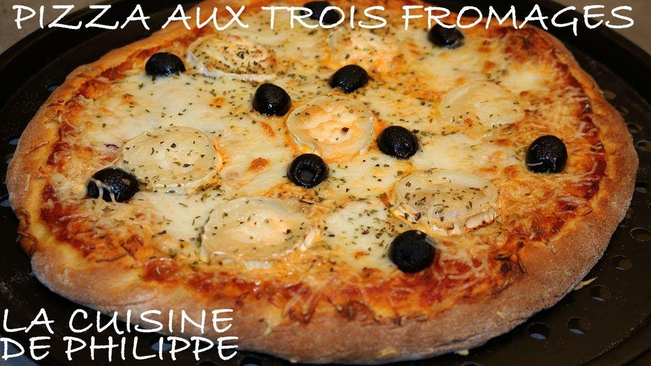 Pizza aux trois fromages | Pizza, Fromage, Fait maison