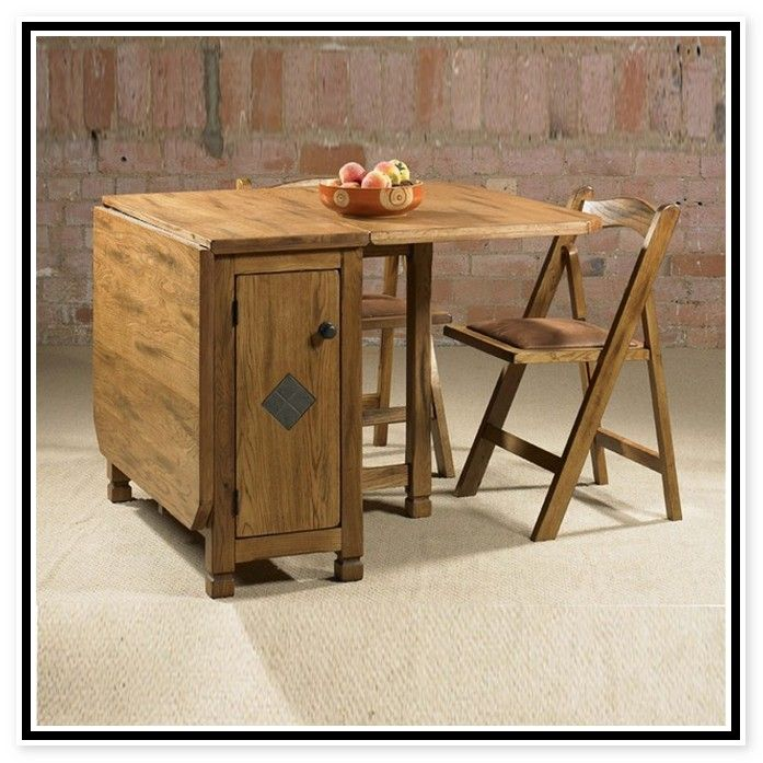 Representation Of Adorable Drop Leaf Table With Chair