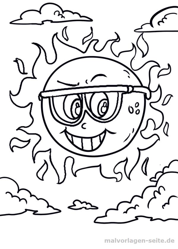 Malvorlage Sonne | Outlines