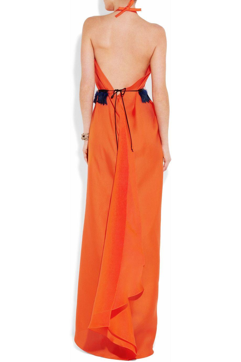 Roksanda ilincic condor ruffled silk organza gown style beauty
