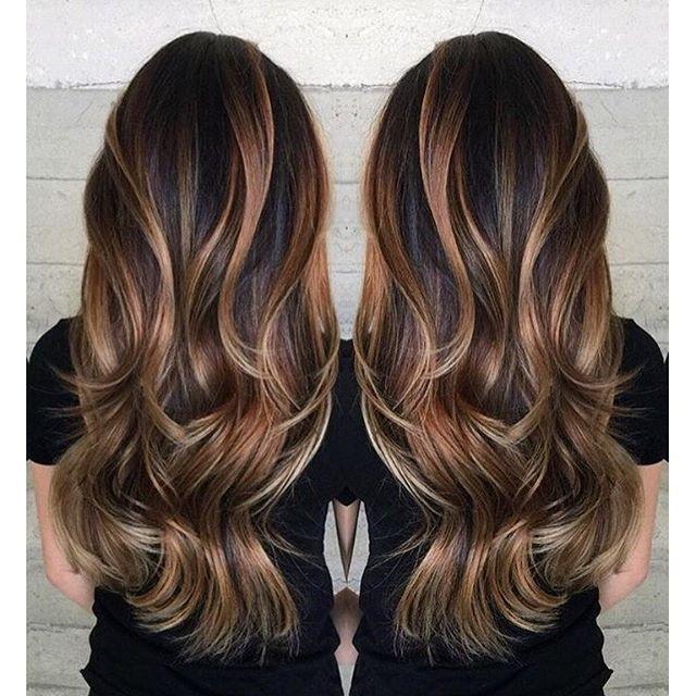 Gorgeous long brunette hair with rich blonde balayage hair color gorgeous long brunette hair with rich blonde balayage hair color by janai hartt pmusecretfo Images