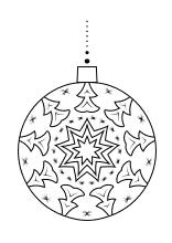 Ausmalbilder Zu Weihnachten Weihnachtsmann Nikolaus Und Adventszeit Weihnachtskugeln Weihnachten Kugel