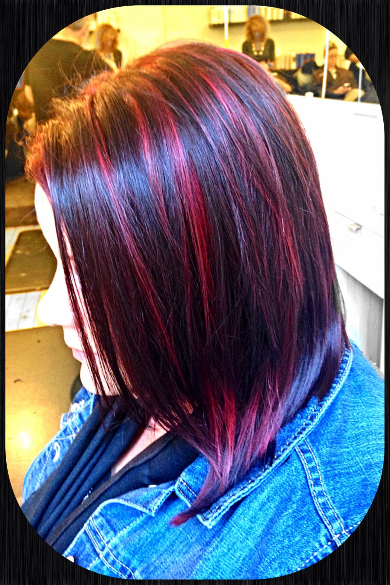Dark Brunette With Magenta Red Highlights And Lowlights Dark Hair With Highlights Dark Red Hair Hair Color Crazy