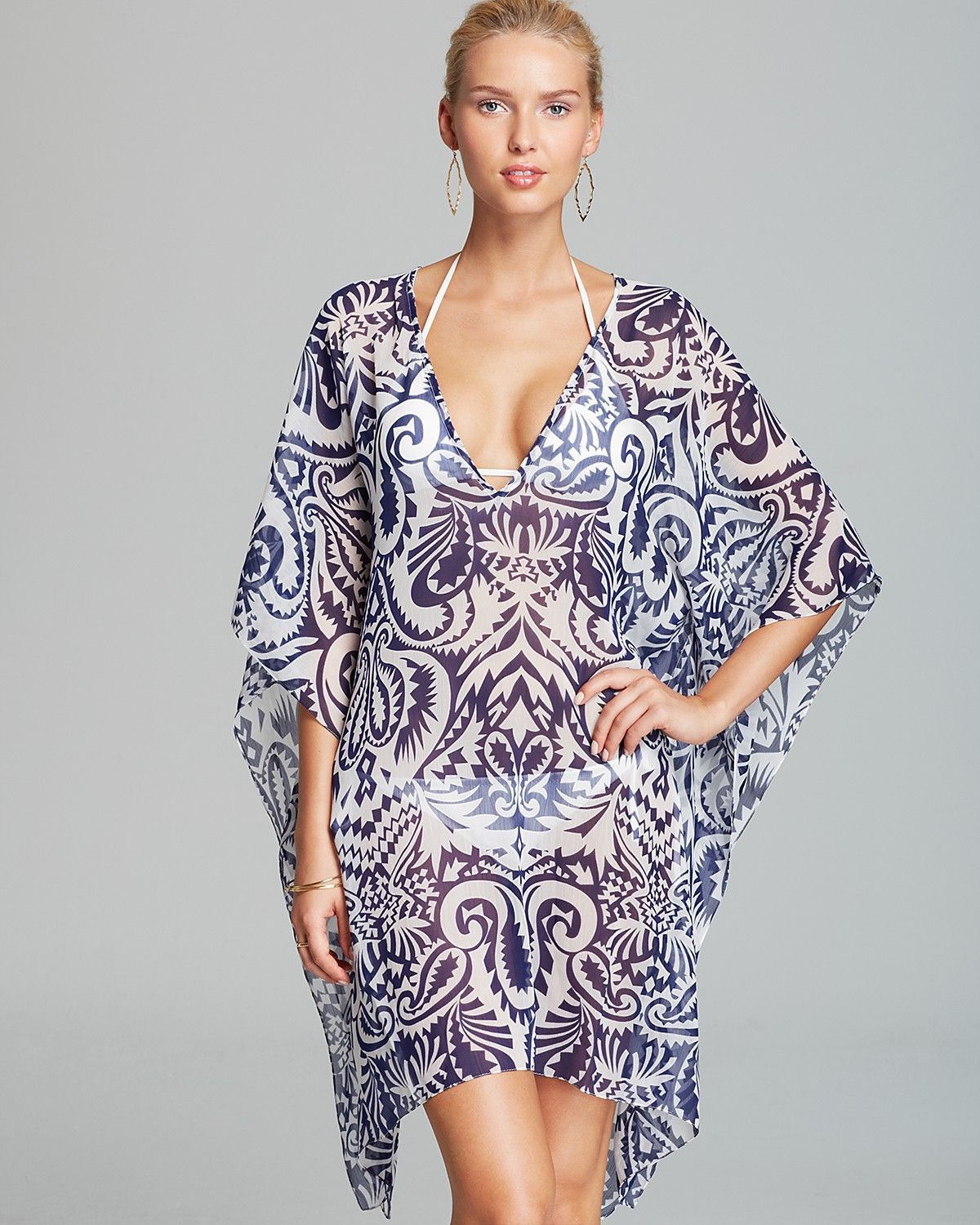 deeedf24ea90d Echo Block Print Caftan Swim Cover Up | Bloomingdale's | Drippin ...