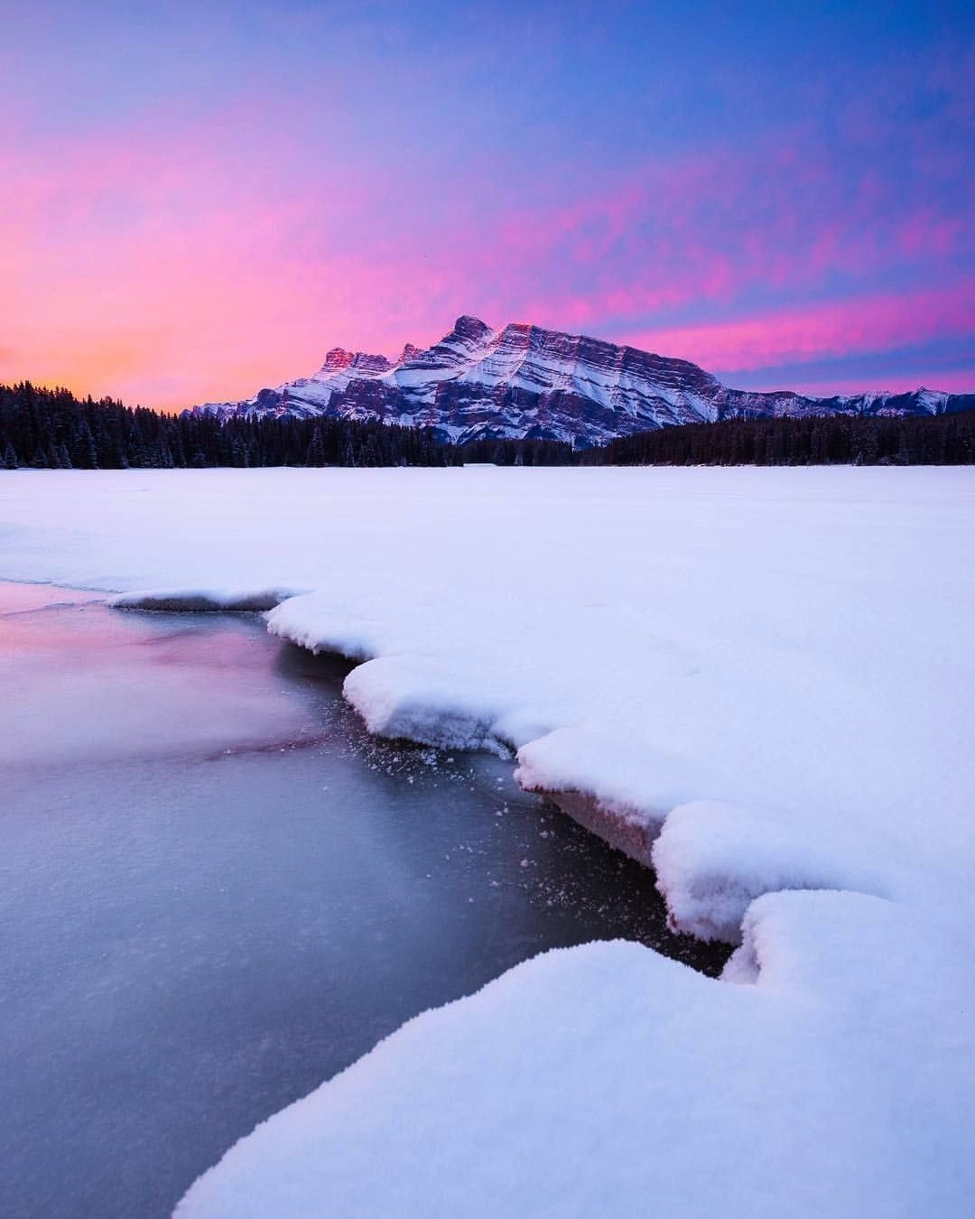 "Snape on Instagram: ""Perfect pink sunrises in Banff! I'm excited to get back to my Can... Callu"