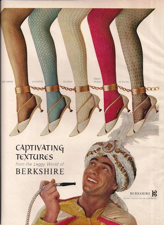 Items Similar To 1965 Vogue Magazine Color Print Ad Berkshire Hosiery Stockings Shoes Chains Colorful O Vintage Advertisements Vogue Magazine Vintage Stockings