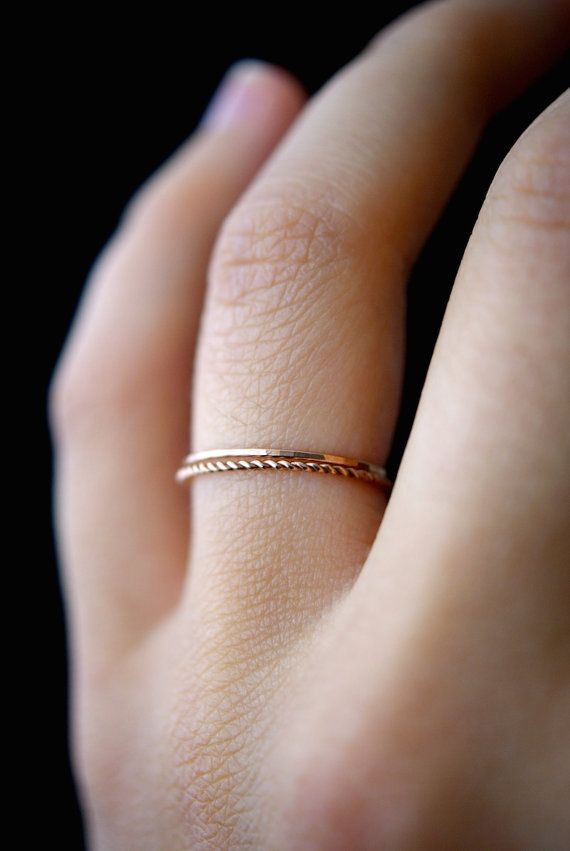 Round Rings for Women Thin Rose Gold Color Twist Rope Stacking Engagement Wedding Rings,9,Silver Plated