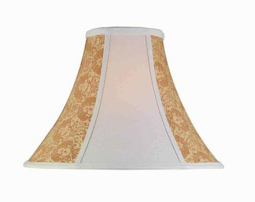 Lite Source Ch17618 18inch Lamp Shade Stone And Cream Gold