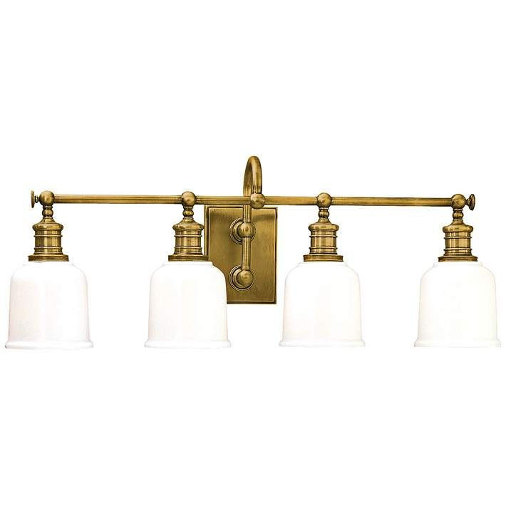 Hudson Valley Keswick 29 Quot Wide Aged Brass Bath Light