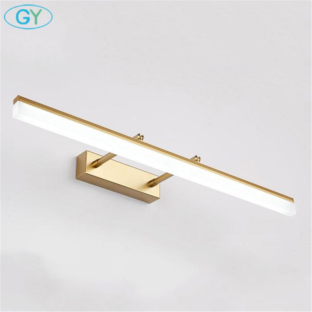 Indoor Led Bathroom Lights Wall Mounted Modern Led Wall Lamps For Home Gold Silver Picture Lights Cabinet Sconces Led Wall Lamp Led Bathroom Lights Wall Lamp
