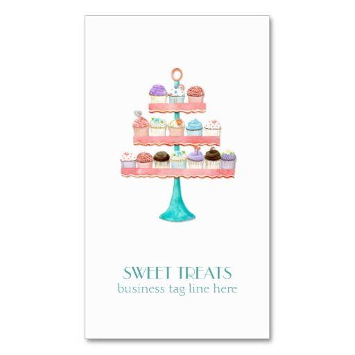 Cupcake Dessert Baking Bakery Business Package Business Card - birthday cake card template