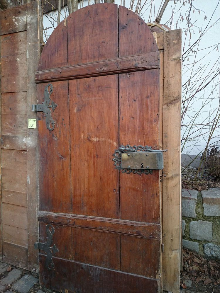 alte Holztüre Haustüre antik Haustür Massivholz Barock