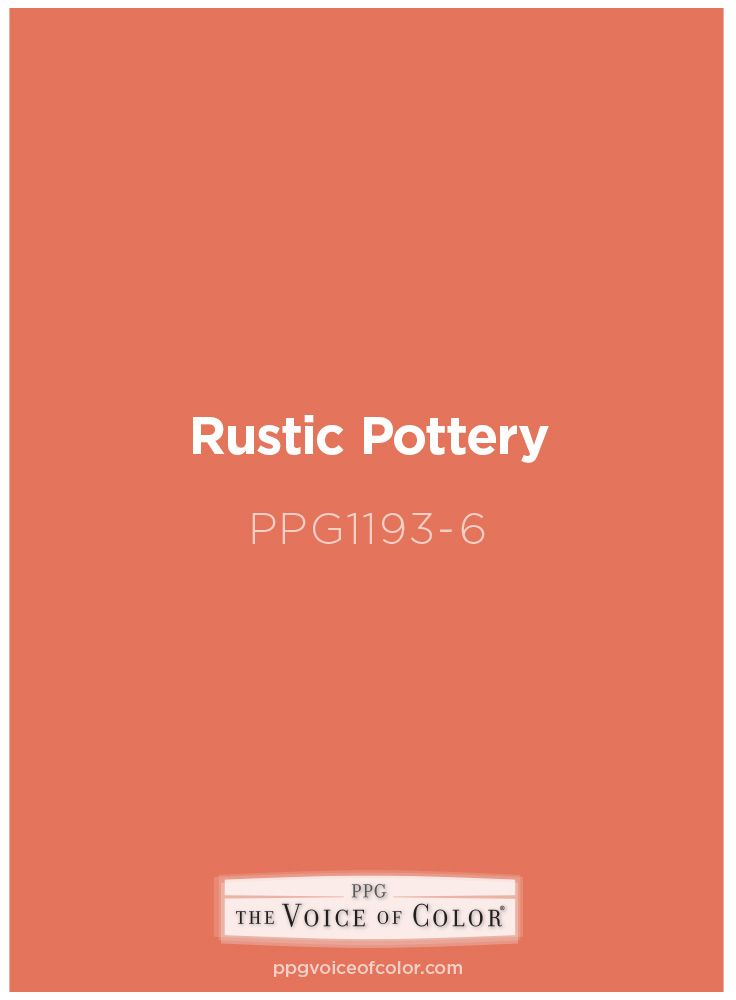 Rustic Pottery Ppg17 15 Paint Color By Ppg Voice Of Get This Tinted In Pittsburgh Paints Porter Or Products
