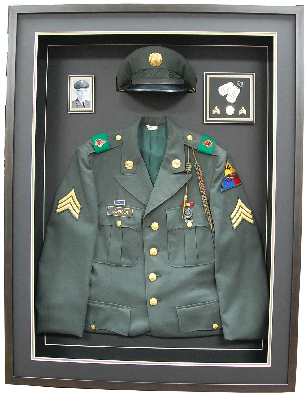 Army Class A Jacket Hat Custom Shadow Box Custom Shadow Box Military Shadow Box Shadow Box Display Case