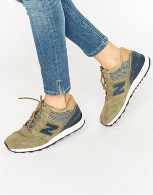 quality design 78c99 a05a3 New Balance 996 Winterised Trainer In Khaki
