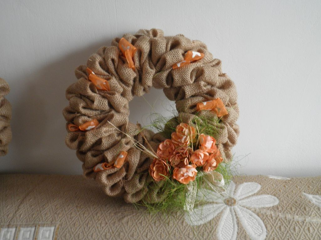 Wianek Z Juty Burlap Wreath Decor Burlap
