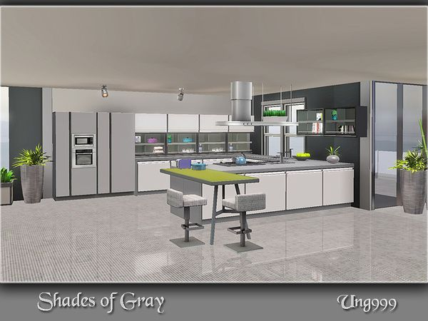 shades of gray kitchen by ung999 free sims 3 furniture. Black Bedroom Furniture Sets. Home Design Ideas