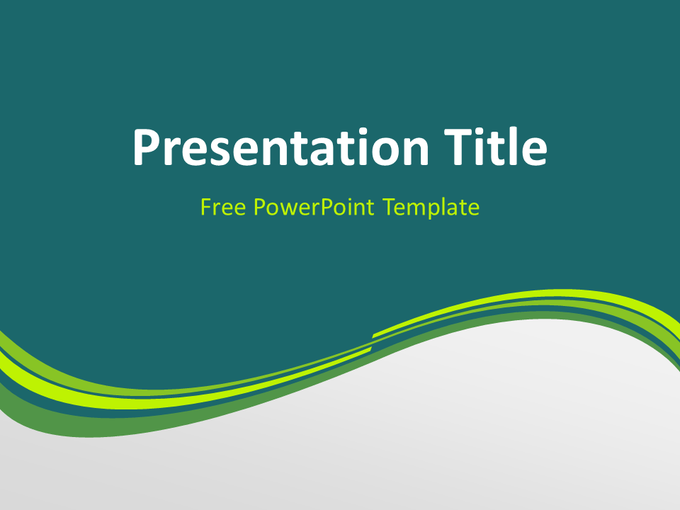 Green wave powerpoint template presentationgo free green abstract wave powerpoint template title slide with dark background toneelgroepblik Gallery