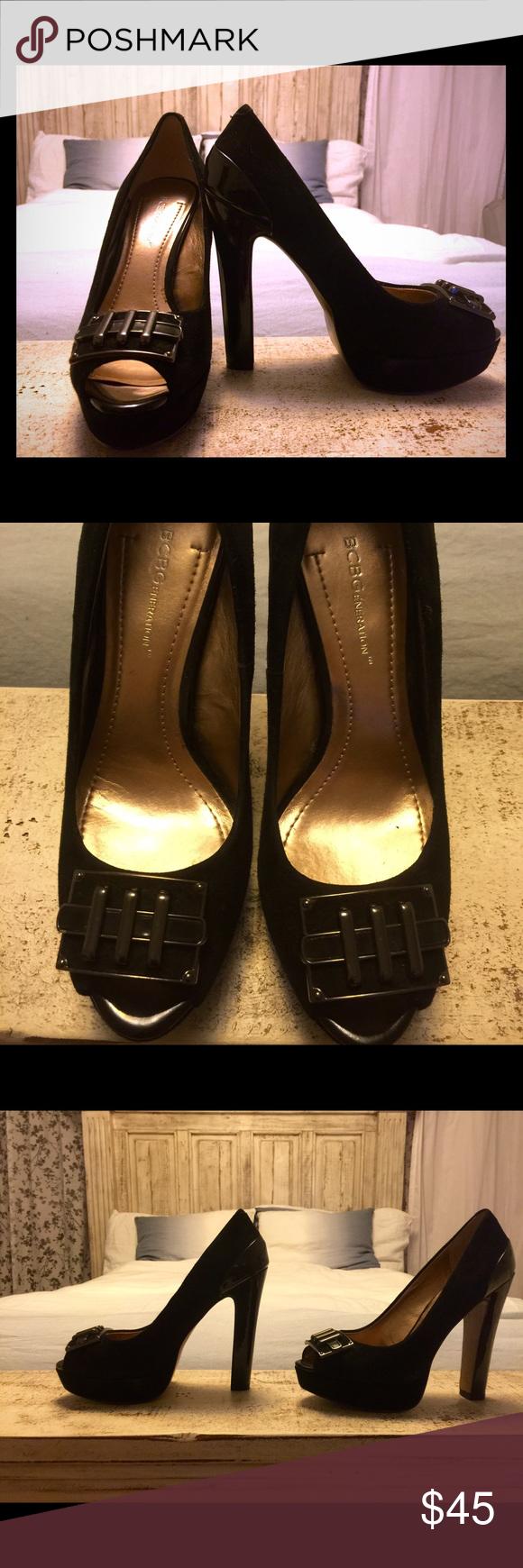 Bcbg Black Platform Heels Only Worn Once I See No Damage