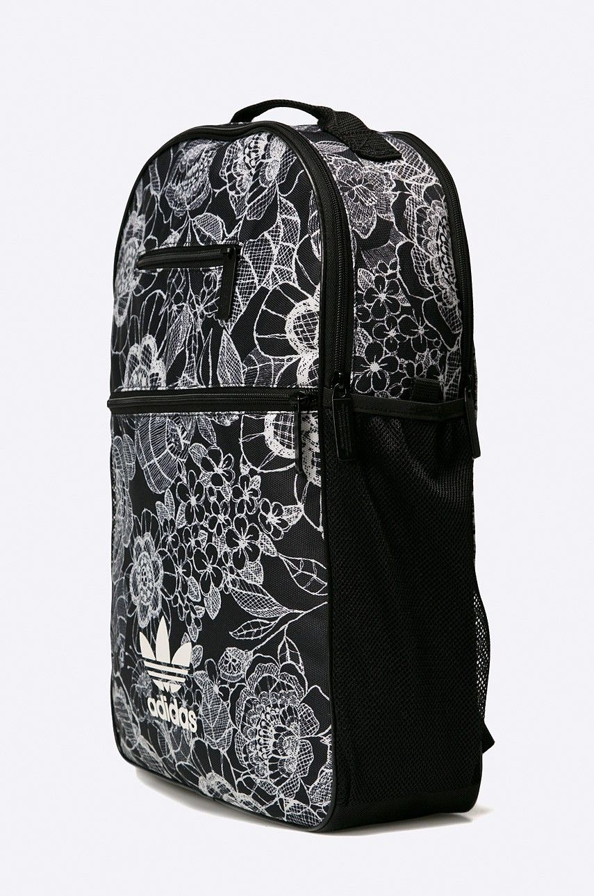 san francisco preț accesibil ofera reduceri Rucsac cu print floral adidas Originals alb negru 851215 | Vera ...