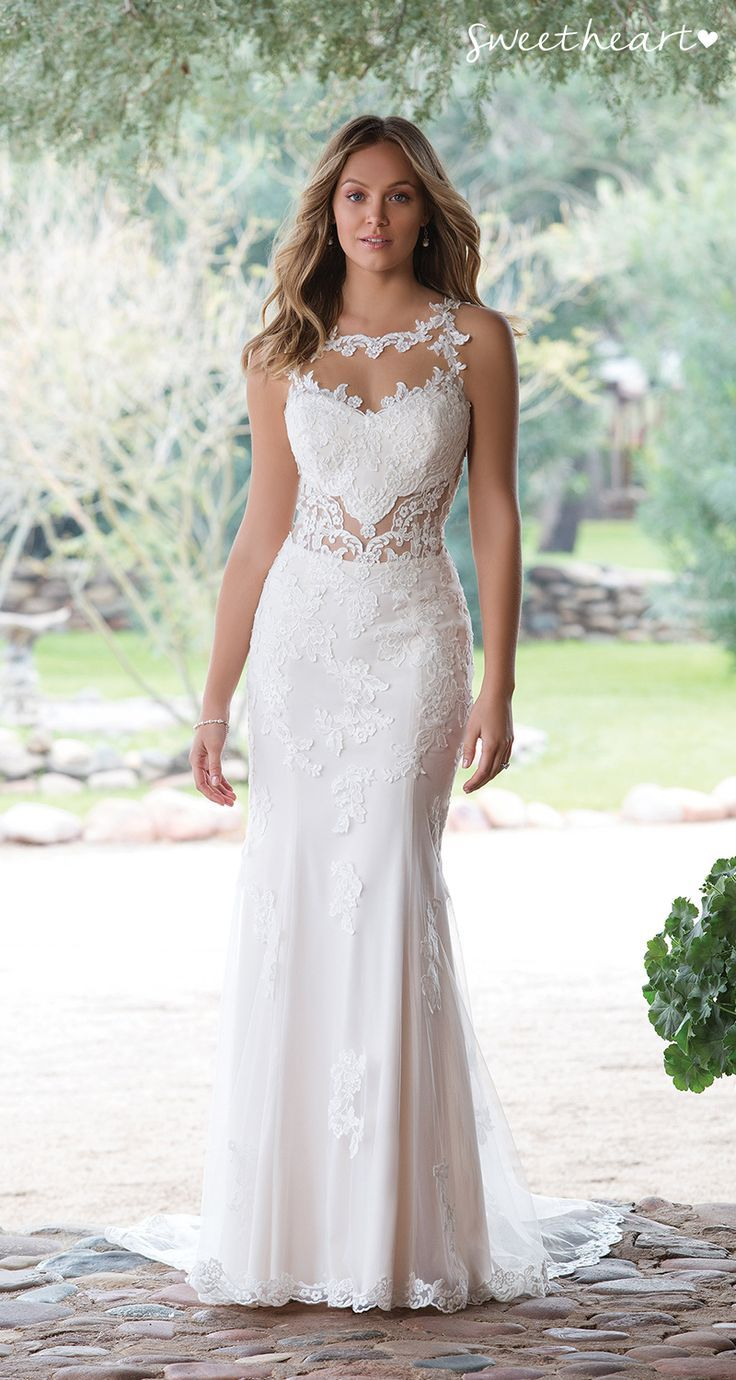Style 1143: Be flirty in this stretch Jersey wedding dress. The ...