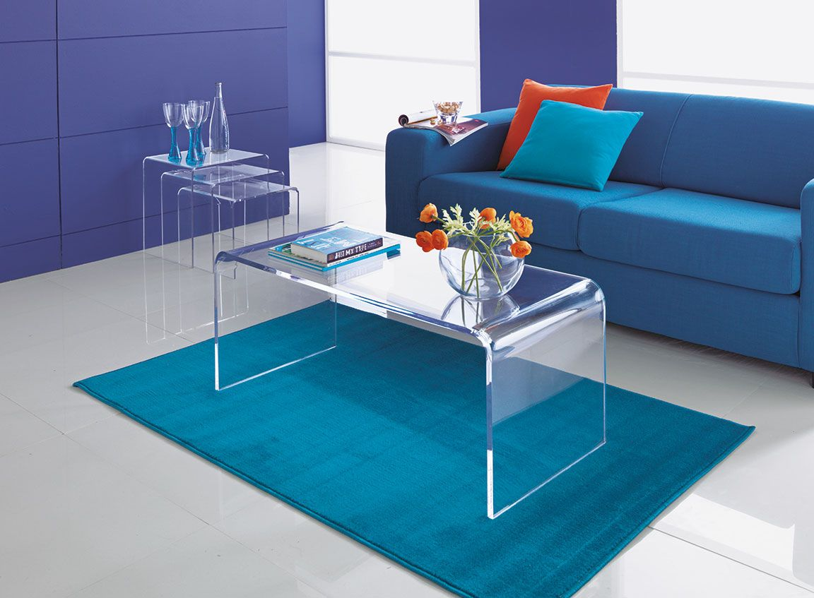 This Modern Coffee Table Comes In Stunning Clear Acrylic