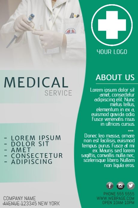 free medical flyer template for medical business postermywall