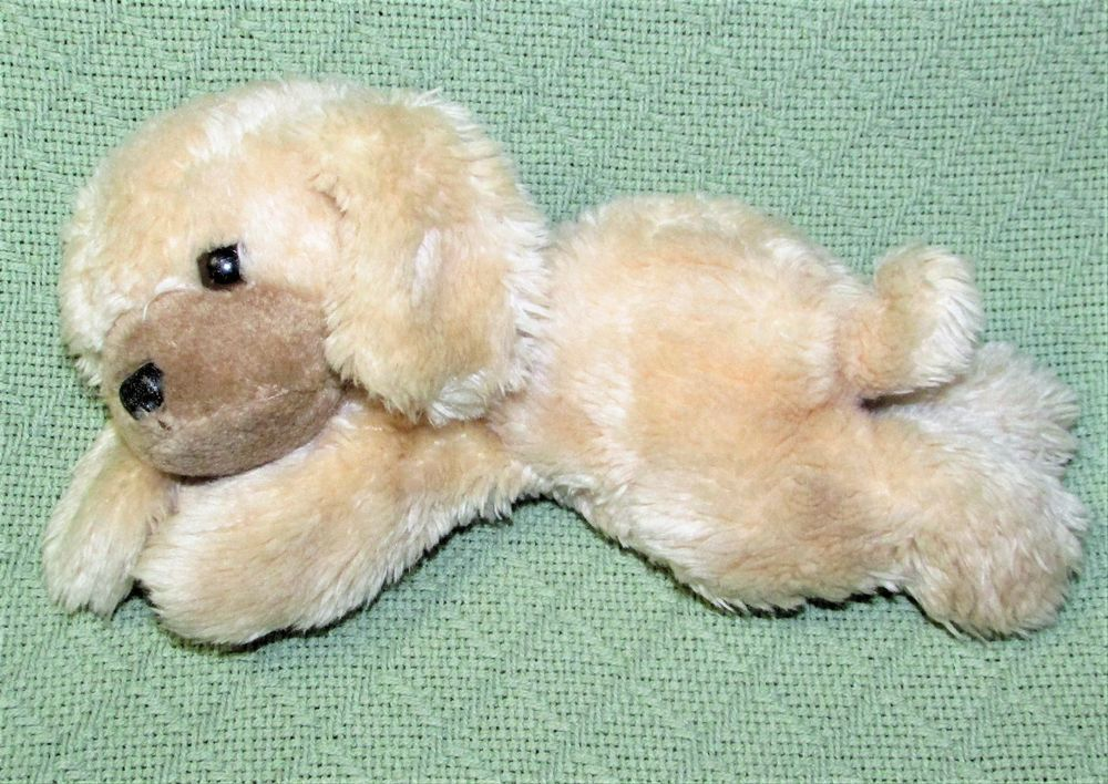 Vintage 10 Russ Berrie Puff Puff Puppy Dog Plush Stuffed Laying Animal Luv Pet Animals Dogs Puppies